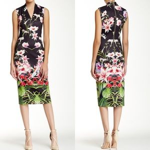 Ted Baker Jalita Sheath Floral Midi Dress